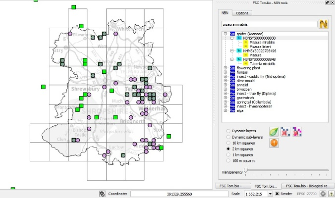 qgis  u2013 tools for biological recorders