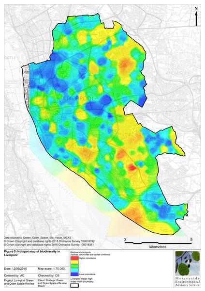 Biodiversity hotspot map