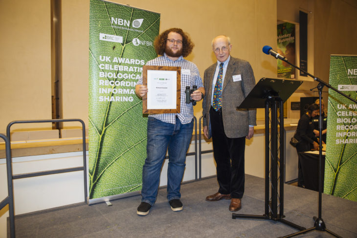 Richard receiving his award from The Earl of Selborne