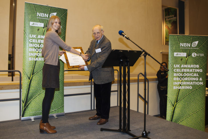 Julia Simons receiving the award on behalf of Mark Pritchard