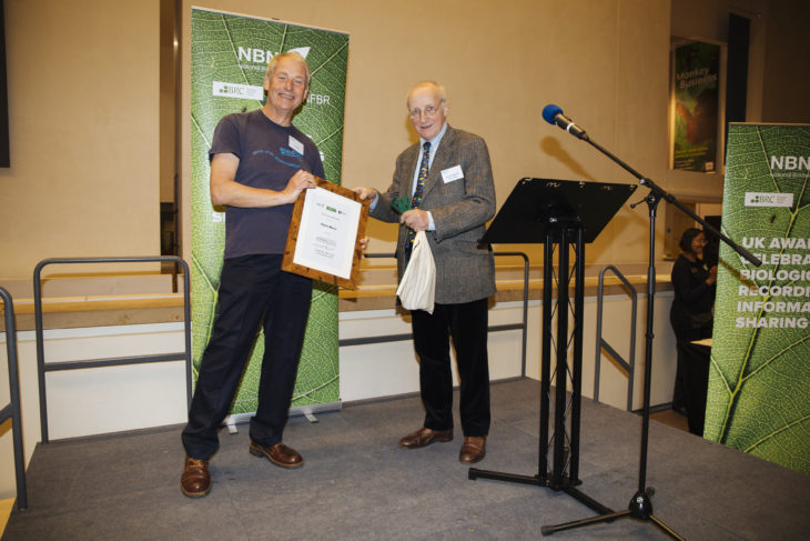 Chris receiving his award from the Earl of Selborne
