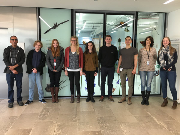 Cohort 2 and 3 of ID trainers outside the Angela Marmont Centre for UK Biodiversity