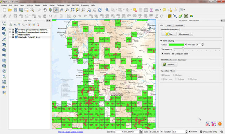 NBN Atlas tool for QGIS - National Biodiversity Network