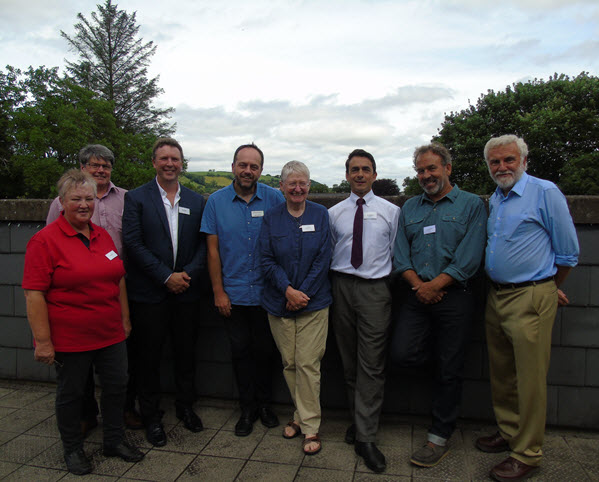 LERC Wales managers, Janet Imlach, Colin Russell, Roy Tapping, Adam Rowe, board members Jane Hodges, Paul Sinnadurai, and speakers Andy Middleton and Ray Woods