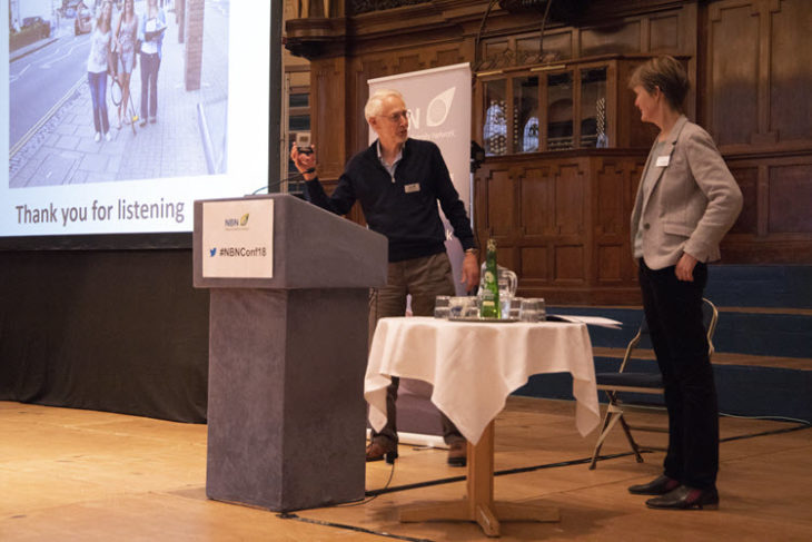 Michael Hassell presents the John Burnett memorial medal