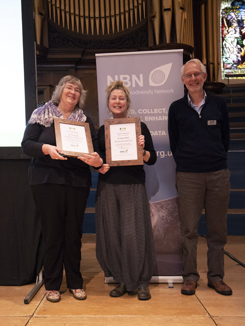 Sarah Whild and Sue Townsend receive Honorary Membership from Michael Hassell